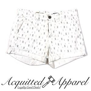 AG for Anthropologie Tristan Printed White Short